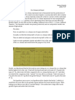 eco column lab report