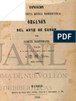 "Samuel Hahnemann, ""Esposición (sic) de la Doctrina Médica Homeopática"