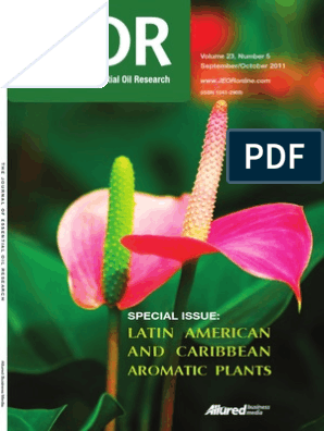 The journal of essential oil pdf | Gas Chromatography | Perfume