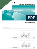 Manual Honda BIZ 125