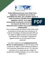 China y America Latina-Estados Unidos Tiembla