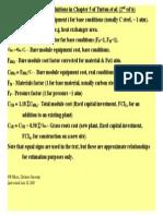 Cost estimation by turton