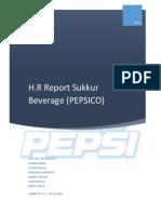 HR Report of Sukkur Beverages (PEPSICO)