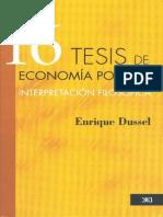 16 Tesis económicas - Enrique Dussel.