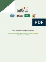 Agua, minería y cambio climático. Posicionamiento de la Red Muqui frente al cambio climático en el Perú.