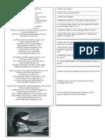 Annabel Lee worksheet