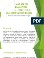 Formação Do Pensamento Social, Político e Econômico Do Brasil