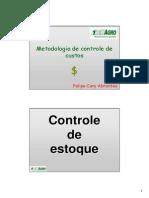 Aula Metodologia de Controle de Custos