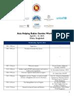 Asia Helping Babies Survive Workshop Agenda 4.5.15