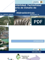 Pre Factibilidad, Factibilidad e Ingeniería de Detalle de Centrales y Hidroeléctricas