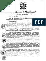 Rm-012-2015-Vivienda Politica de Sst Del Ministerio de Vivienda