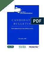 CPA Candidate Bulletin