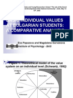 BASIC INDIVIDUAL VALUES AT BULGARIAN STUDENTS