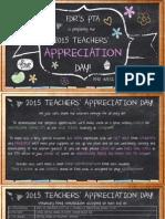 teachers appreciation day 2015 monday messenger