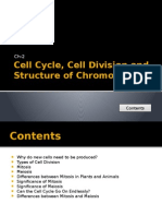 Cell Cycle, Cell Division and Structure of Chromosomes