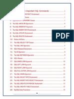 SQL Commands Detailed
