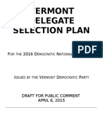 2016 VDP Delegate Selection Plan