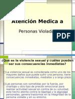 Atención Medica a Personas Violadas