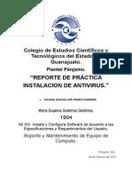 PROYECTO DE INSTALACIÓN DE UN ANTIVIRUS