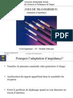 Cours Lignes de Transmission Séance Adaptation d'Impédance 2013 2014