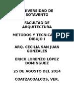 Metodos y Tecn Punto, Linea, Plano, Volumen