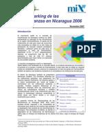 Benchmarking de las Microfinanzas en Nicaragua 2006