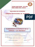 PLAN ESTRATEGICO Los Pantanos