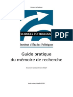 5. Guide du mémoire de recherche ScPo Toulouse