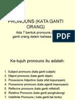 Pronouns (Kata Ganti Orang)