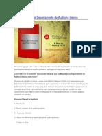 Secciones Manual Departamento de Auditoría Interna