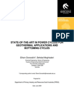 State-Of-The-Art in Power Cycles for Geothermal Applications