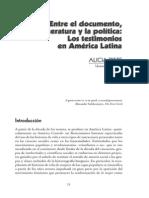 Alicia Frete - El Testimonio en La Literatura Latinoamericana