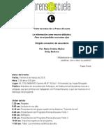 Memorias taller de inducción a Prensa Escuela para maestros de secundaria-Marzo 6 de 2015