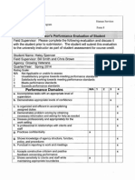 spencer evaluation spring 2014