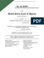 Motorola Reply Brief in Microsoft v Motorola Appeal