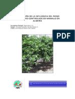 Evaluación de La Influencia Del Riego Deficitario Controlado en Naranjo en Almería