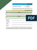 Formato de Plantilla de Asistencia 2015