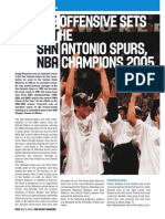 The Offensive sets of the San Antonio Spurs NBA Champions 2005