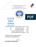 Sistemas Operativos Bioinformatica 1