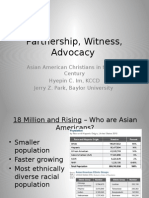 Partnership, Witness, Advocacy - Asian American Christians in the 21st Century