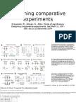 Designing Comparative Experiments