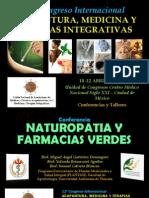 Conferencia Naturopatia y Farmacias Verdes Congreso Internacional Abril 2015