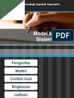 2.4 Model Matematika Sistem Mekanik