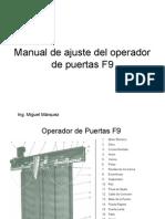 MANUAL DE AJUSTE DEL OPERADOR F9.ppt