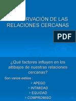 CONSERVACIÃ_N DE LAS RELACIONES CERCANAS.ppt