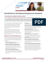 Introduction to the National Employment Standards