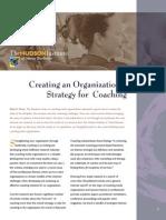Creating an Organizational Strategy for Coaching