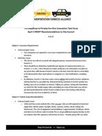 Transportation Fairness Alliance response to task force
