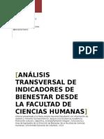 Análisis Transversal de Indicadores de Bienestar Desde La Facultad de Ciencias Humanas