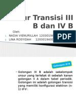Unsur Transisi III B Dan IV B